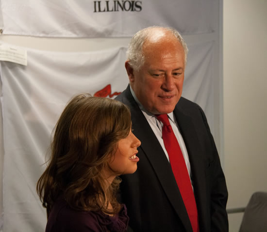 Abby With Governor Quinn
