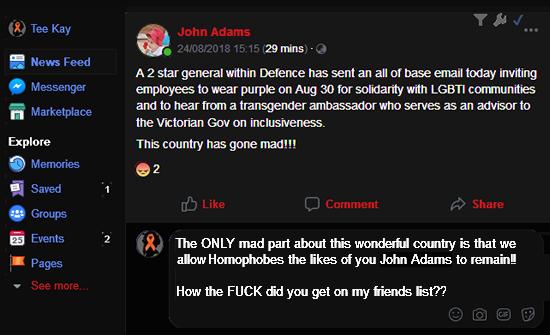 John Adams Post TeeKay reaction