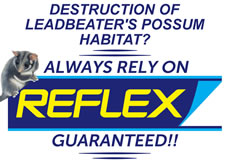 Reflex no good for Leadbeaters Possums